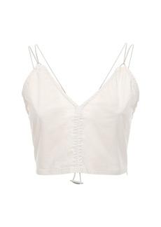 McQ Alexander McQueen Genesis Ii Organic Cotton Crop Top
