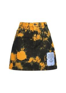 McQ Alexander McQueen Genesis Ii Tie Dyed Cotton Mini Skirt