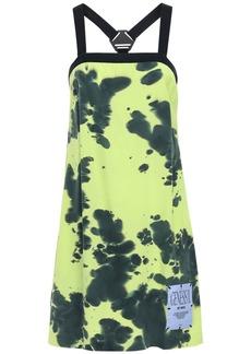 McQ Alexander McQueen Genesis Ii Tie Dyed Silk Mini Dress