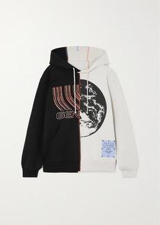 McQ Alexander McQueen Genesys Appliquéd Printed Cotton-jersey Hoodie