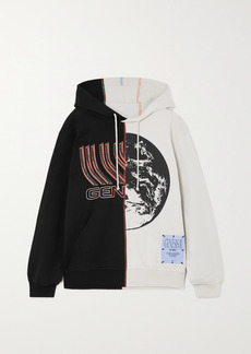 McQ Alexander McQueen Genesys Appliqued Printed Cotton-jersey Hoodie