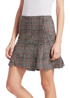 McQ Alexander McQueen Glen Plaid Mini Skirt