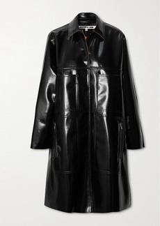 McQ Alexander McQueen Glossed-pu Coat