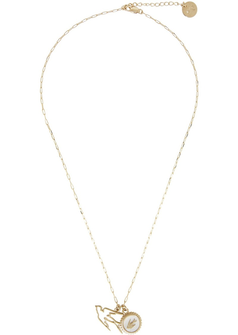 McQ Alexander McQueen Gold Double Swallow Necklace