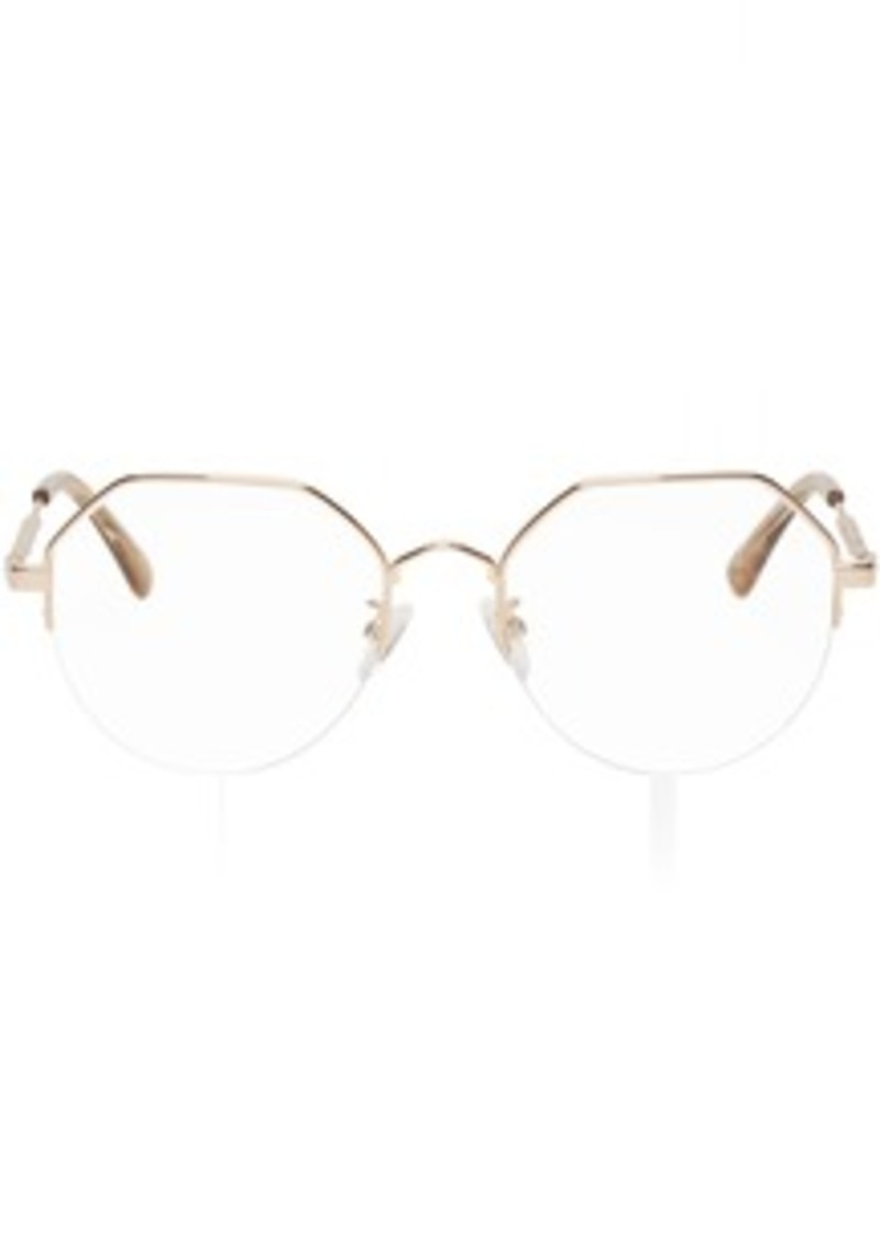 McQ Alexander McQueen Gold Hexagonal Glasses