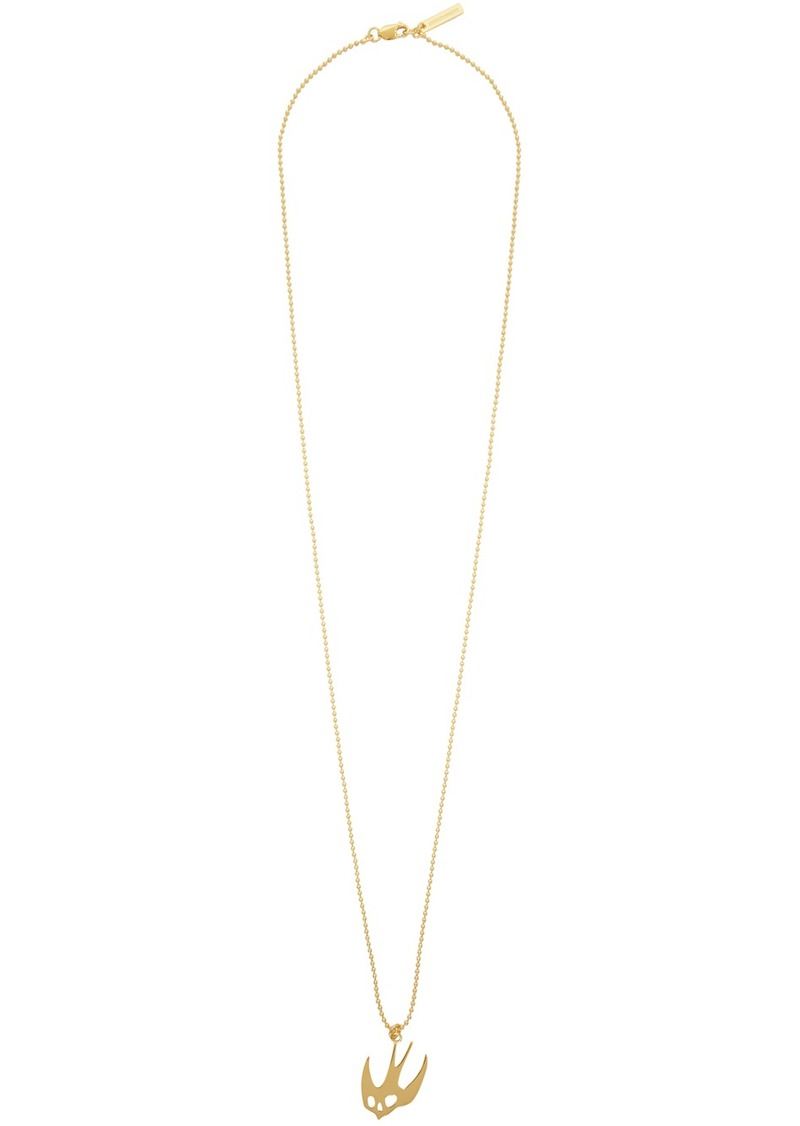 McQ Alexander McQueen Gold Swallow Necklace