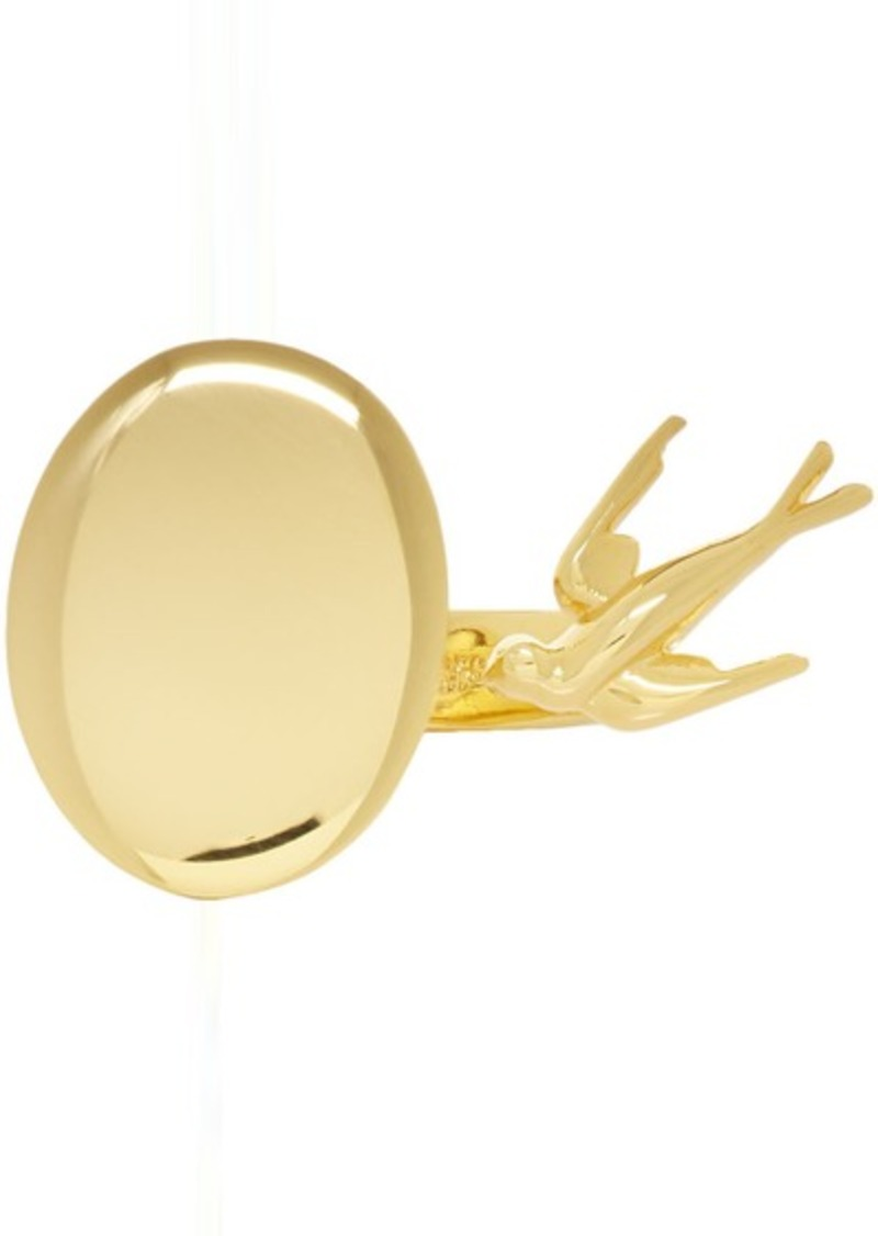 McQ Alexander McQueen Gold Swallow Twin Ring