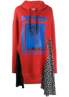 McQ Alexander McQueen graphic print panelled sweater dress