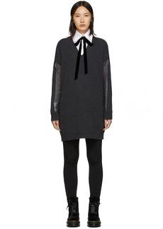 McQ Alexander McQueen Grey Tunic Dress