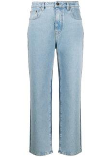 McQ Alexander McQueen high-rise contrast jeans