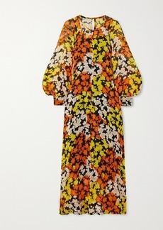 McQ Alexander McQueen Hisano Floral-print Silk-chiffon Midi Dress