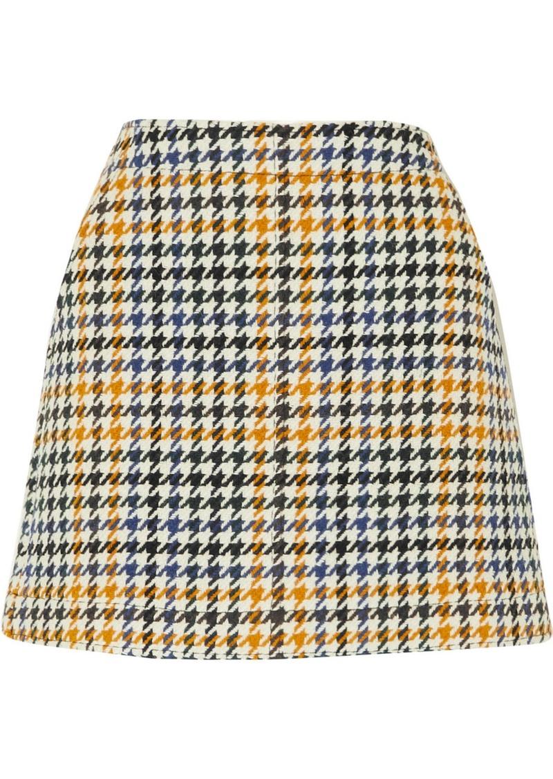 McQ Alexander McQueen Houndstooth Wool-blend Mini Skirt