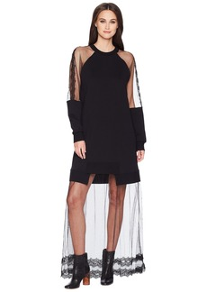 McQ Alexander McQueen Hybrid Long Dress