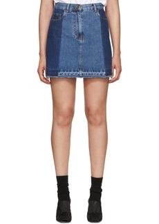 McQ Alexander McQueen Indigo Denim Miniskirt