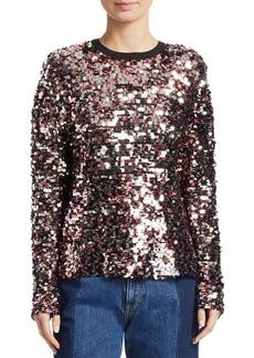 McQ Alexander McQueen Keyhole Back Sequin Sweatshirt