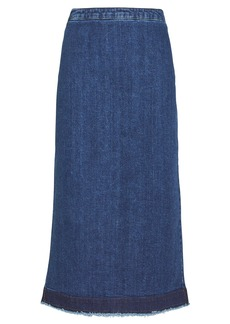 McQ Alexander McQueen Kick Back Godet Denim Skirt