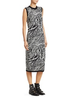 McQ Alexander McQueen Knit Zebra Print Tube Dress