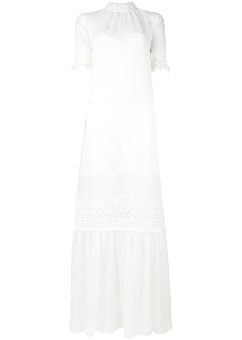 McQ Alexander McQueen lace detail full length dress