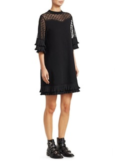 McQ Alexander McQueen Lace Inset T-Shirt Dress