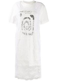 McQ Alexander McQueen lace layer T-shirt dress