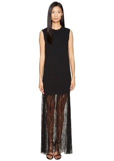 McQ Alexander McQueen Lace Mix Maxi Dress