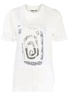 McQ Alexander McQueen lace panel cotton T-shirt