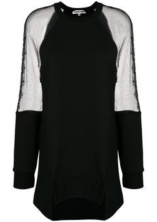 McQ Alexander McQueen lace panel oversized sweatshirt