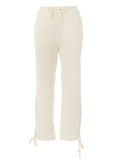 McQ Alexander McQueen Lace-Patched Boyfriend Pants