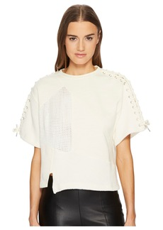 McQ Alexander McQueen Lace Patched T-Shirt