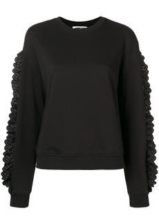 McQ Alexander McQueen lace trimmed sweatshirt