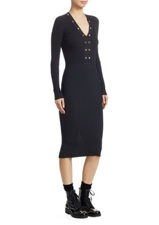 McQ Alexander McQueen Lace-Up Bodycon Dress