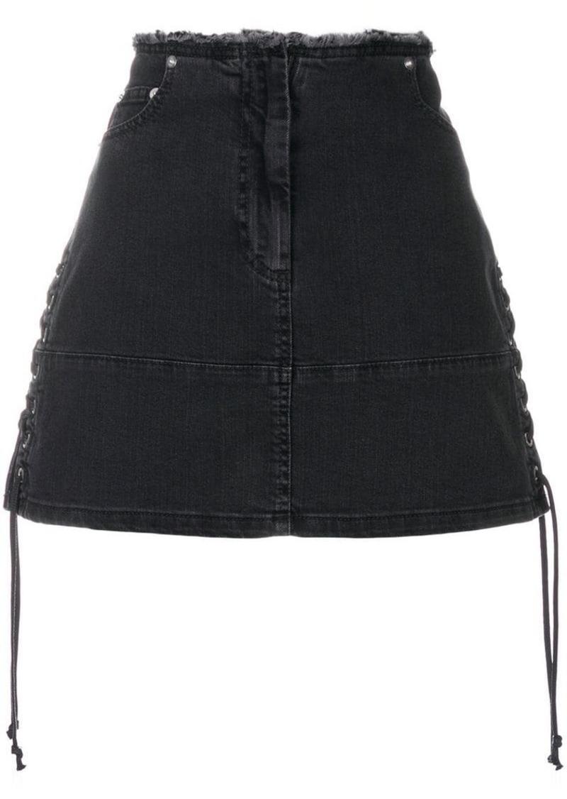38016461c2f17 McQ Alexander McQueen lace-up denim mini skirt | Skirts