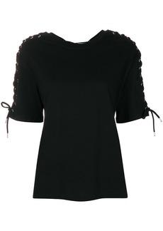 McQ Alexander McQueen lace-up detail T-shirt