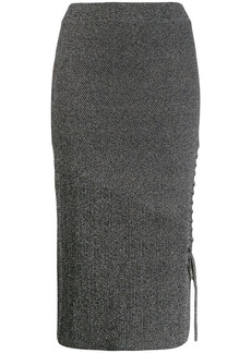 McQ Alexander McQueen lace-up pencil skirt