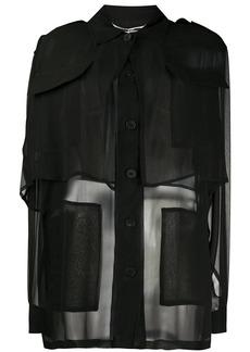 McQ Alexander McQueen layered sheer shirt