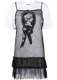 McQ Alexander McQueen layered T-shirt sheer dress