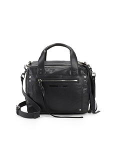 McQ Alexander McQueen Leather Double Zip Top Handle Bag