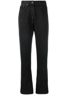 McQ Alexander McQueen leopard print jeans