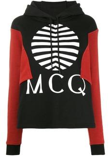 McQ Alexander McQueen logo colour-block hoodie