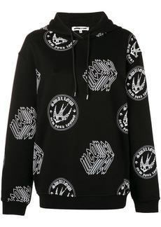 McQ Alexander McQueen logo print boyfriend hoodie