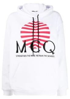 McQ Alexander McQueen logo print hoodie