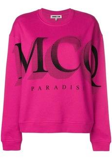 McQ Alexander McQueen logo print sweatshirt