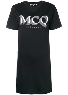 McQ Alexander McQueen logo print T-shirt dress