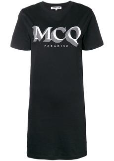 McQ Alexander McQueen logo print T-shirt dress