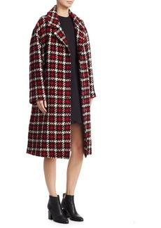 McQ Alexander McQueen Long Wool Check Coat
