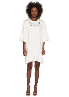 McQ Alexander McQueen Loose Ruffle Tee Dress