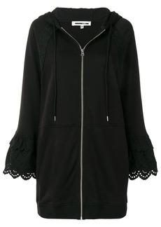 McQ Alexander McQueen macramé detailing zipped hoodie