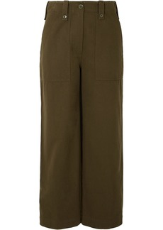 McQ Alexander McQueen Major Cropped Cotton Wide-leg Pants