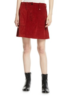 McQ Alexander McQueen Major Patch-Pocket Short Skirt