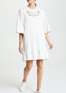 McQ Alexander McQueen McQ - Alexander McQueen Loose Ruffle Tee Dress